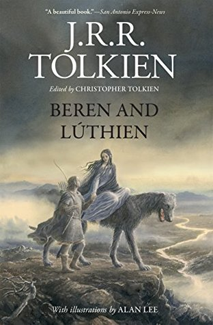 JRR Tolkien Beren and Luthien book cover