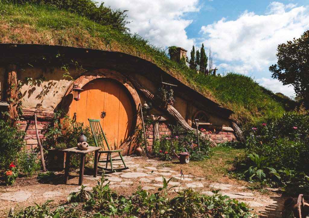 Hobbit hole inspired house