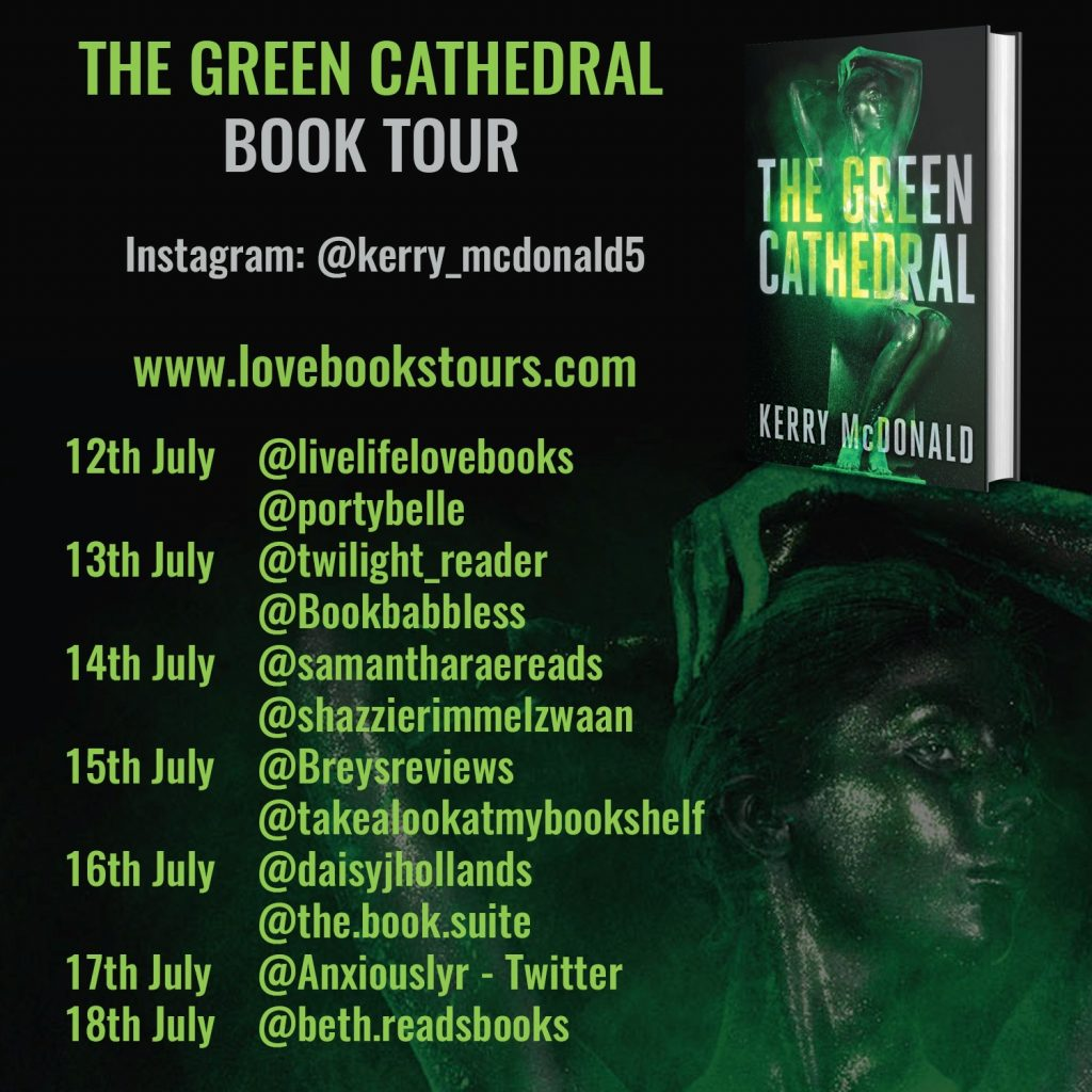 The Green Cathedral Book Tour Poster