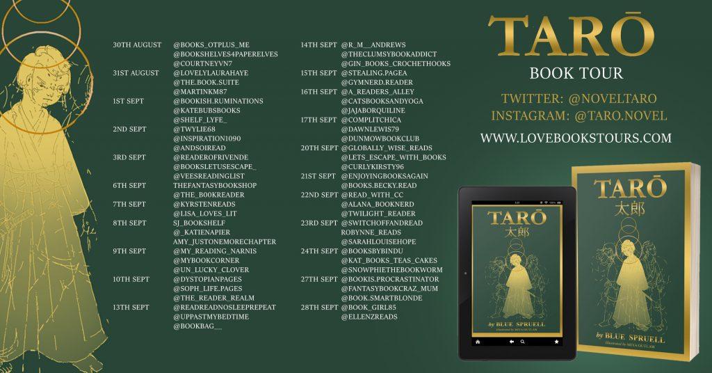 Tarō Book Tour Banner